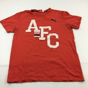 Puma Shirts - Puma AFC Tee Graphic T Shirt L Sports Gym Red
